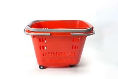 红色超市购物篮